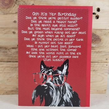 Scottish Birthday Card Scottie