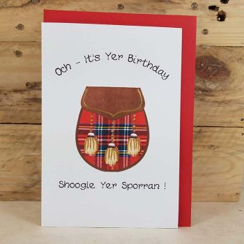 Scottish Birthday Card Sporran