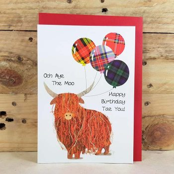 Scottish Birthday Card Och Aye The Moo