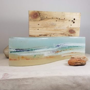 FUSED GLASS SEASCAPE PANEL
