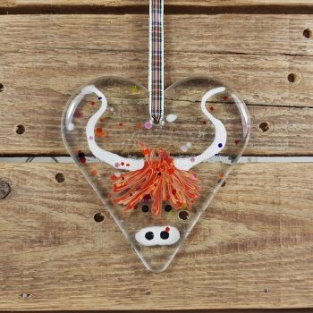 Fused Glass Coo Heart