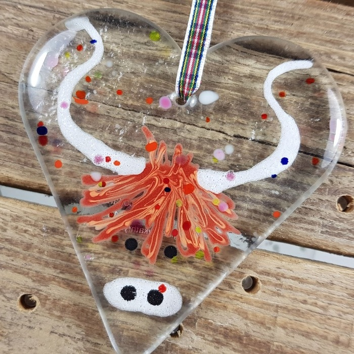 Fused Glass Coo Heart pic 2