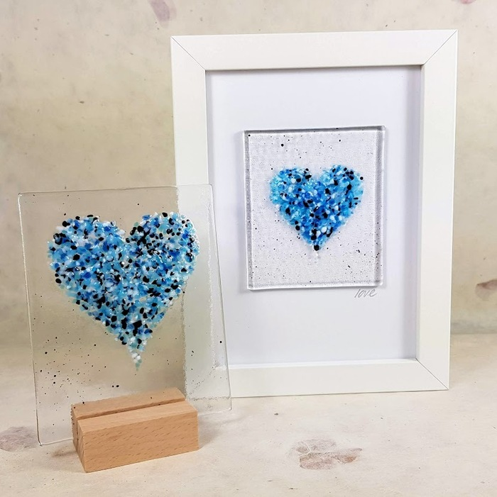 Fused Glass Heart Picture