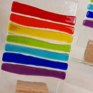 Fused Glass Rainbow 2