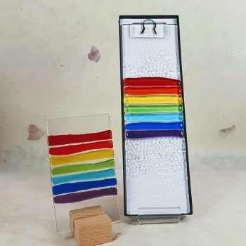 Fused Glass Rainbow Hanging