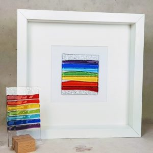 Fused Glass Rainbow Picture