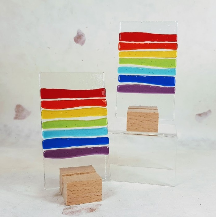 Fused Glass Rainbow