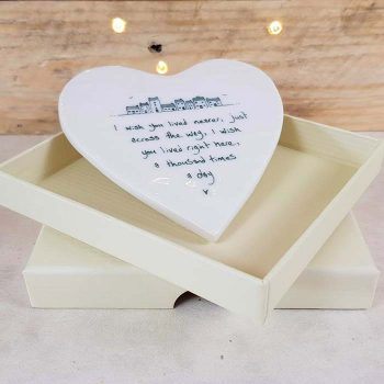 Gift Box For Hearts And Coasters