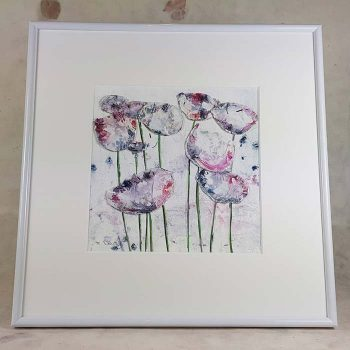 Framed Wild Pink Flower Picture