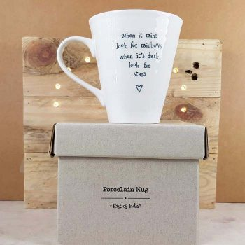 Porcelain Mug, When It Rains