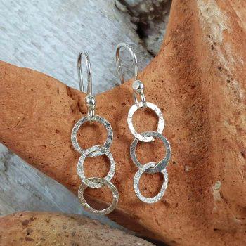 Silver Linked Earrings