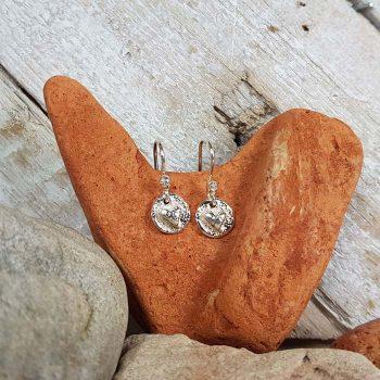Tiny Cast Heart Earrings