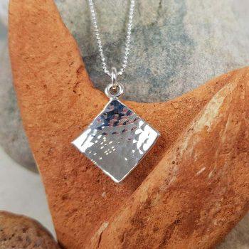 Diamond Shaped Silver Pendant
