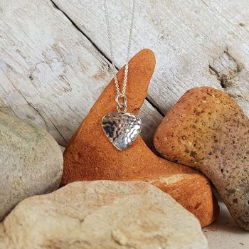 Heart Shaped Silver Pendant