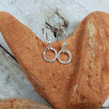 Single Link Silver Earrings