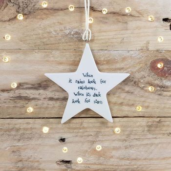 Porcelain Hanging Star