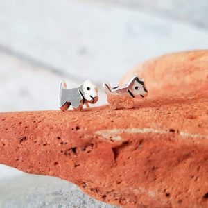 TINY DOG SHAPED STUDS