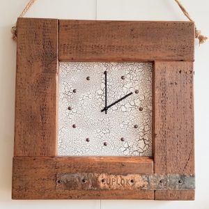 LARGE RUSTIC WOODEN WALL CLOCK
