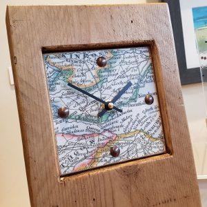 MAP OF FIFE WOODEN CLOCK DETAIL