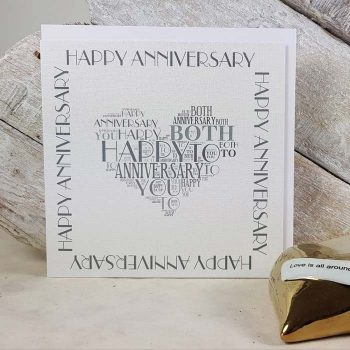 Happy Anniversary Word Card