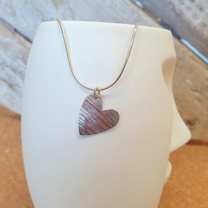 Larger Silver Heart Pendant