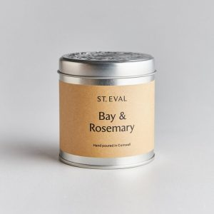 BAY & ROSEMARY SCENTED CANDLE TIN