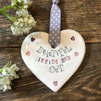 BEAUTIFUL INSIDE AND OUT CERAMIC HEART JAINSIDEANDOUT