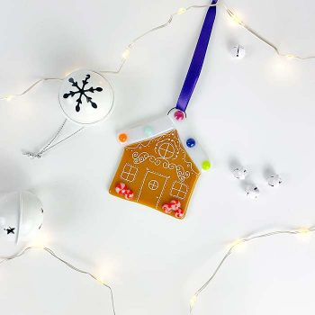 Gingerbread House Glass Decoration