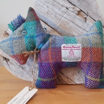 HARRIS TWEED SCOTTIE DOG MIXED COLOUR