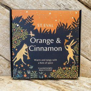 ORANGE & CINNAMON SCENTED TEA LIGHTS