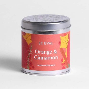 Orange and Cinnamon Candle Tin
