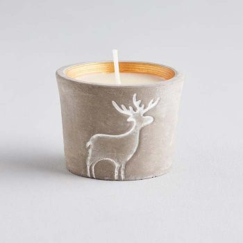 Orange & Cinnamon Scented Reindeer Candle Pot