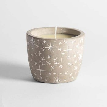 Orange & Cinnamon Scented Star Pot