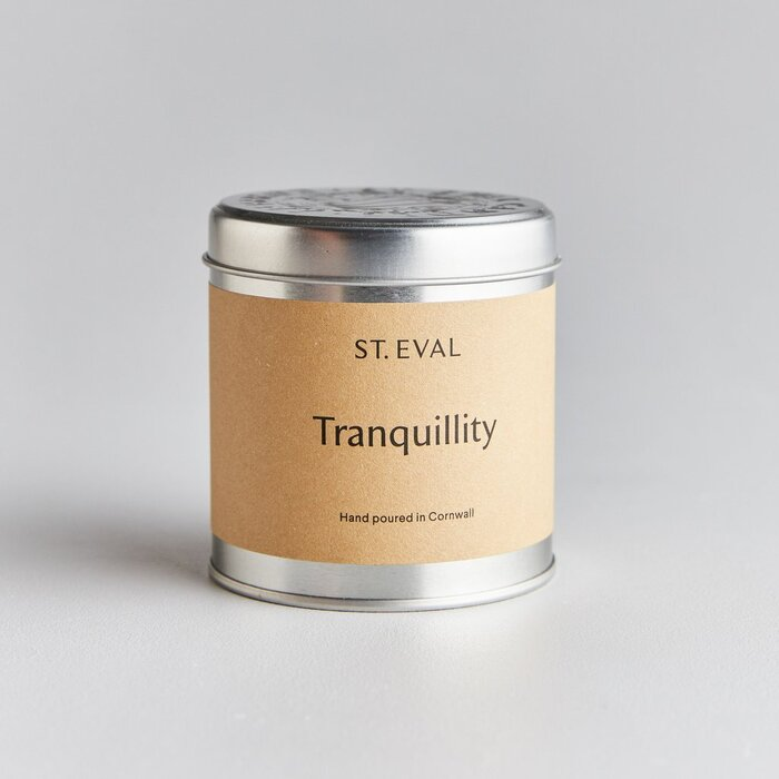 TRANQUILLITY SCENTED CANDLE TIN