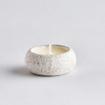 White Christmas Orange & Cinnamon Tea Light Holder