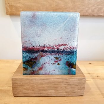 FUSED GLASS TEA LIGHT HOLDER LAGUNA