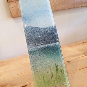 GLASS HANGING PANEL LAKESIDE DETAIL