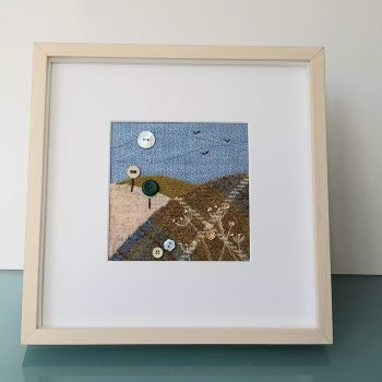 HARRIS TWEED EMBROIDERED LANDSCAPE