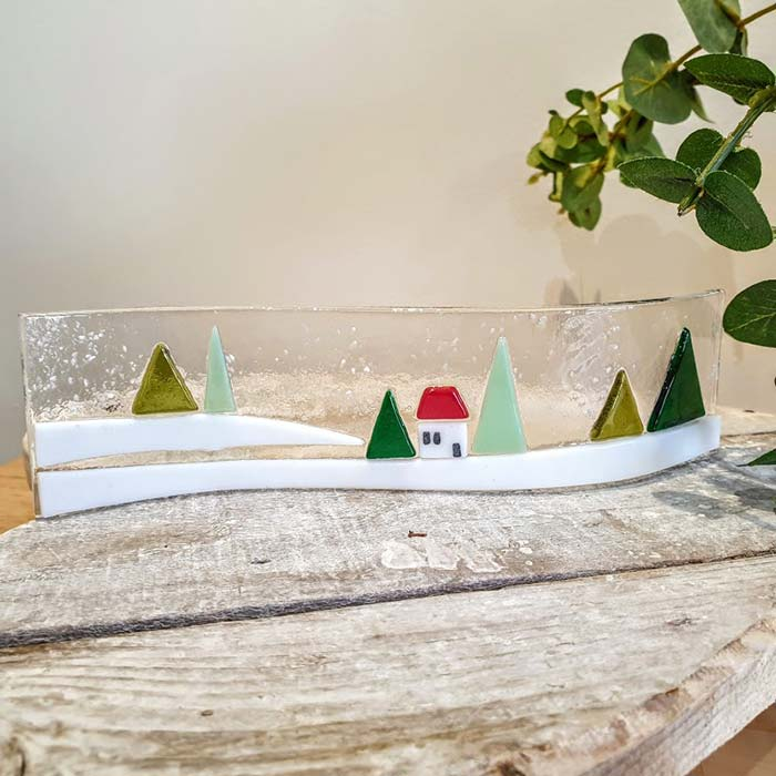 Winter Scene Glass Curve