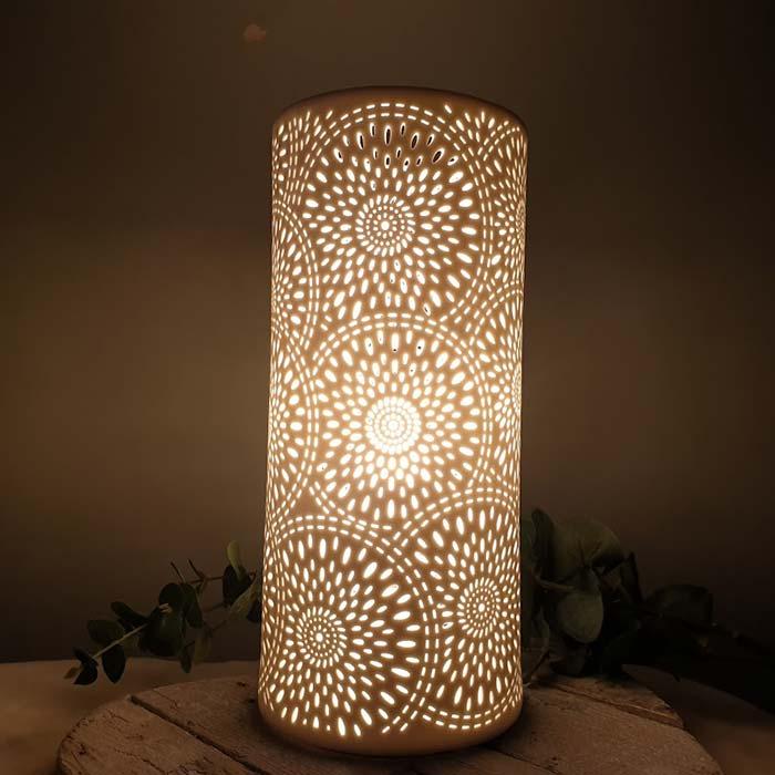 Porcelain Column Lamp Fireworks
