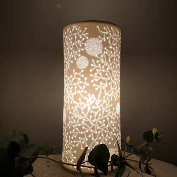 Porcelain Column Lamp Sparkles