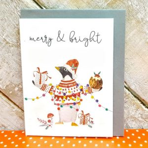 MERRY AND BRIGHT PENGUIN Pack of 5