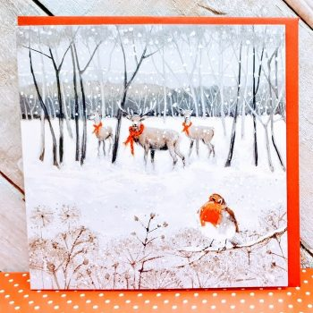 REINDEER CROSSING Pack of 6 Charity Cards