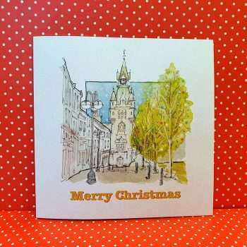 Merry Christmas Dunfermline Town Clock