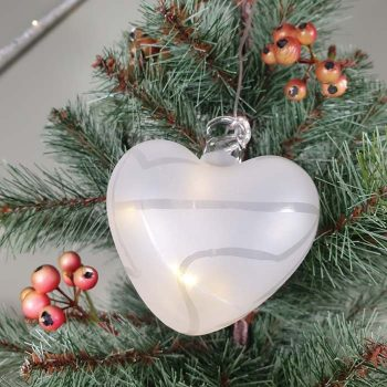 Frosted Glass Led Bauble