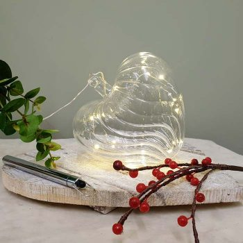 Large Glass Led Heart