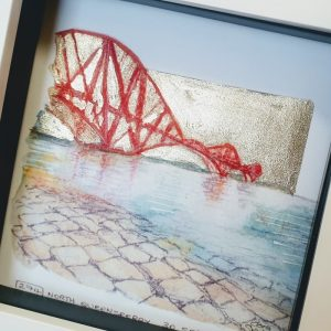 Forth Rail Bridge From North Queensferry Detail jpg