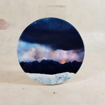 Strawberry Moon Isle of Skye Ceramic Coaster