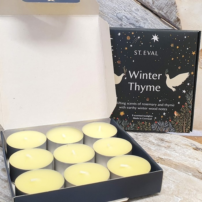 WINTER THYME SCENTED TEA LIGHTS  DETAIL
