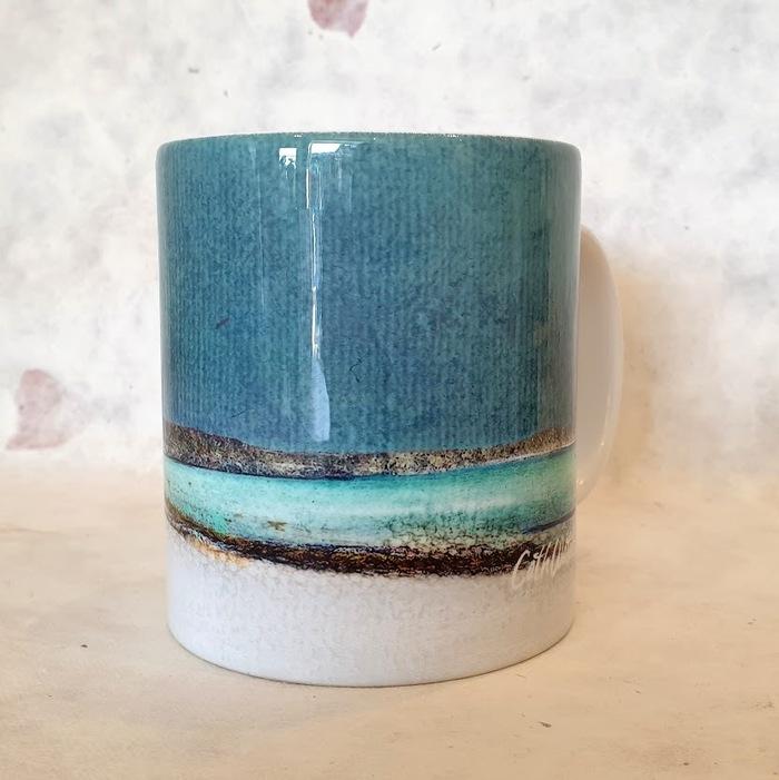Winter Luskentyre , Isle of Harris Ceramic Mug detail